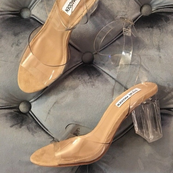 6903949b0cf Steve Madden Clear Lucite Kardashian Sandals 8